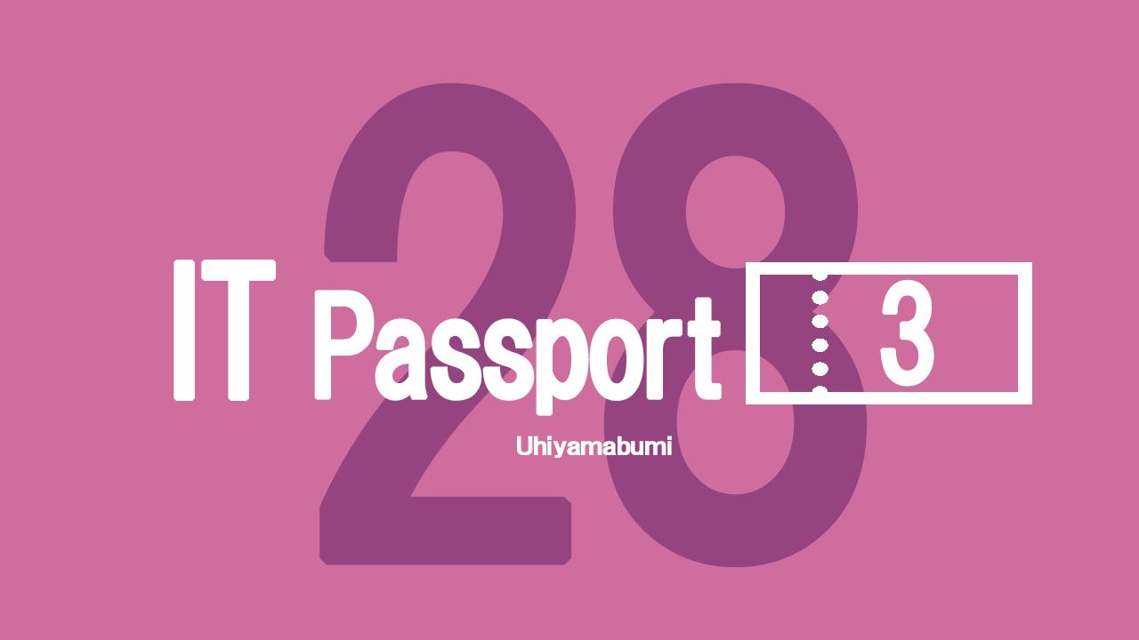 平成28年度ITパスポート試験21-30